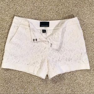 White Lace Cynthia Rowley Shorts